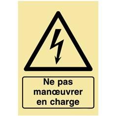 Panneau photovoltaïque - Ne pas manoeuvrer en charge - PVC photoluminescent