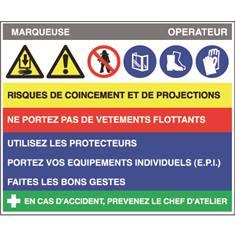 Fiche sécurité marqueuse - H 200 x L 240 mm - PVC 2 mm
