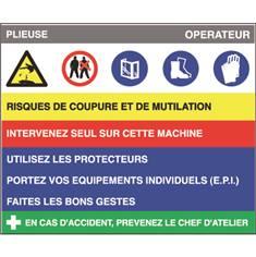 Fiche sécurité plieuse - H 200 x L 240 mm - PVC 2 mm
