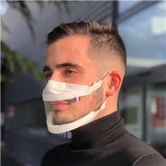 Masque transparent avec grande fenêtre UNS1 - 20 lavages
