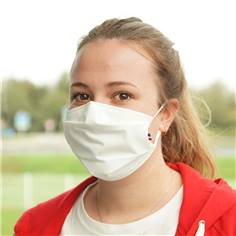 Masques grand public en tissu avec pince nez - Catégorie UNS1 - 50 lavages Blanc