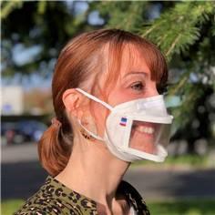 Masque transparent avec fenêtre centrale UNS1