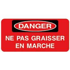 Danger Ne pas graisser en marche - STF 3026S