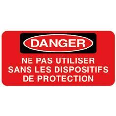 Danger Ne pas utiliser sans les dispositifs de protection - STF 3027S