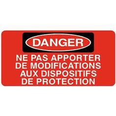 Danger Ne pas apporter de modifications aux dispositifs ..- STF 3036S