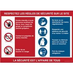 Panneau Consignes de sécurité - Covid 19