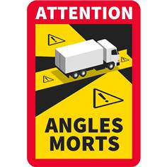 Autocollant Attention angles morts Camion 250 x 170 mm
