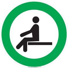 Autocollant Asseyez-vous ici
