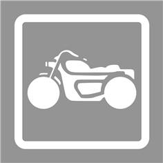 Pochoir de marquage au sol pour parking moto - H 600 x L 600 mm