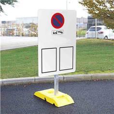 Kit pour signalisation temporaire standard panneau arrêté municipal avec poteau + socle - 9kg