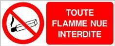 Toute flamme nue interdite - STF 3406S