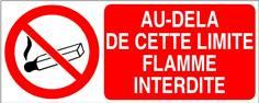 Au delà de cette limite flamme interdite - STF 3408S