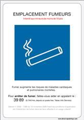 Nouveau Panneau Officiel Emplacement Fumeurs