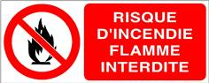 Risque d´incendie flamme interdite - STF 3407S