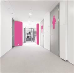 Adhésif de porte de Toilettes Femmes - H 400 mm x L 184 mm