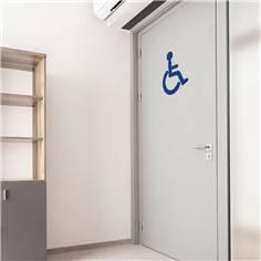Adhésif de porte de Toilettes PMR - H 400 x L 327 mm