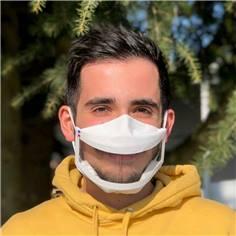 Masque transparent avec grande fenêtre UNS1 - 50 lavages