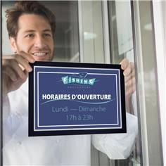 Porte-affiches vitrostatique pour vitrines Duraframe® Sun