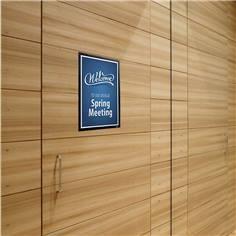 Porte-affiches Duraframe® Wallpaper pour mur délicat