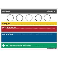 Fiche sécurité personnalisée en Alu dibond - H 210 x L 300 mm