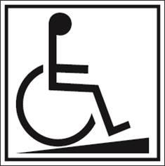 Accès pour handicapés PIC 292 - 200 x 200 mm