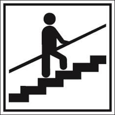 Escaliers - tenez la rampe s.v.p. PIC 468 - 200 x 200 mm