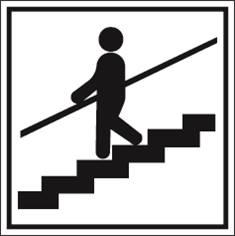 Escaliers - tenez la rampe s.v.p. PIC 469 - 200 x 200 mm