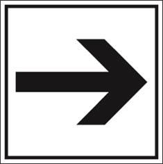Flèche directionnelle PIC 455