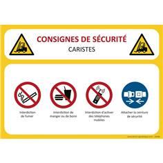 Consignes de sécurité Caristes