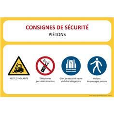 Consignes de sécurité Logistique Piétons