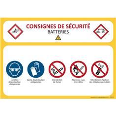 Consignes de sécurité Batteries