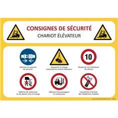 Consignes de sécurité Chariot élévateur