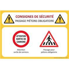 Consignes de sécurité Passage Piétons
