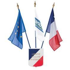 Kit drapeaux France - Europe - Région et écusson