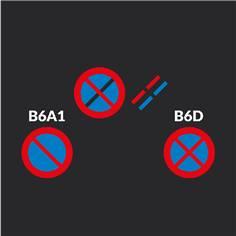 Marquage au sol B6A1 ou B6D adhésif