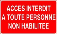 Accès interdit à toute personne non habilitée - STF 3229S
