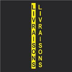 """Texte """"LIVRAISONS"""" en Thermocollé  préfabriqué - 5000 x 350 mm"""