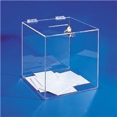 Urne électorale en plexiglas sans compteur