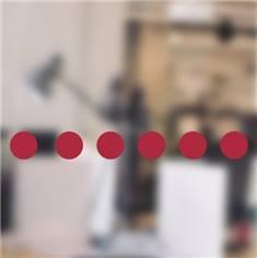 Bandes de signalisation pour vitres - Lot de 60 ronds adhésifs