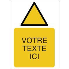 Panneaux de sécurité personnalisés avec texte et pictogramme Danger ISO 7010