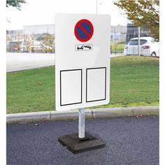Kit pour signalisation temporaire standard panneau arrêté municipal avec poteau + socle 15kg