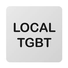Plaque de porte aluminium brossé Texte Local TGBT - 100 x 100 mm - Gamme Bross