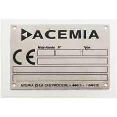 Plaque de firme en acier inoxydable - H 51 x L 102 mm