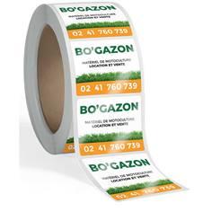 Rouleau de 1000 étiquettes industrielles personnalisées Usage extérieur