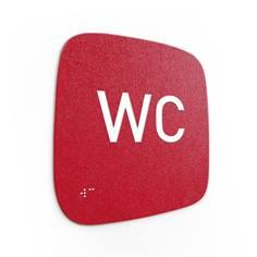 Plaque de porte Touchy® Square - WC - 120 x 120 mm - Relief et braille