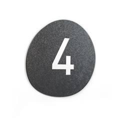 Signalétique Touchy® Disk - Numéro 4 - Diamètre Ø120 mm