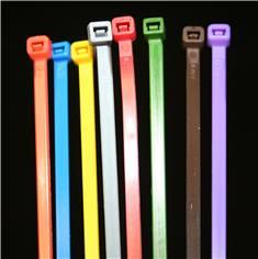 Lot de 100 liens de serrage nylon couleur