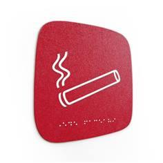 Plaque de porte Touchy® Square - Zone fumeurs - 120 x 120 mm - Relief et braille