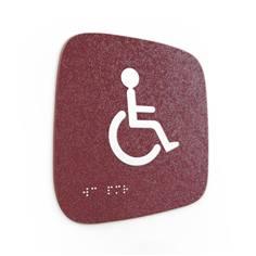 Plaque de porte Touchy® Square - WC PMR - 120 x 120 mm - Relief et braille