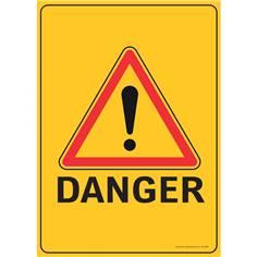 Lot de 5 Panneaux Eco Triangulaire Danger - H 840 x L 600 mm